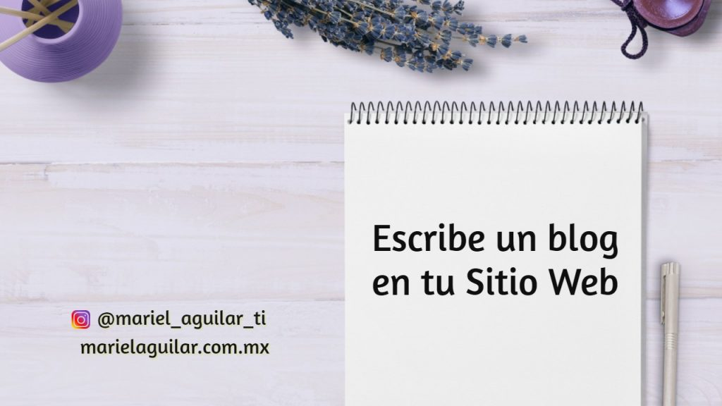 Blog en Sitio Web