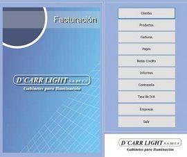 Sistema de Control de Facturacion y Cuentas por Cobrar DCARRLIGHT